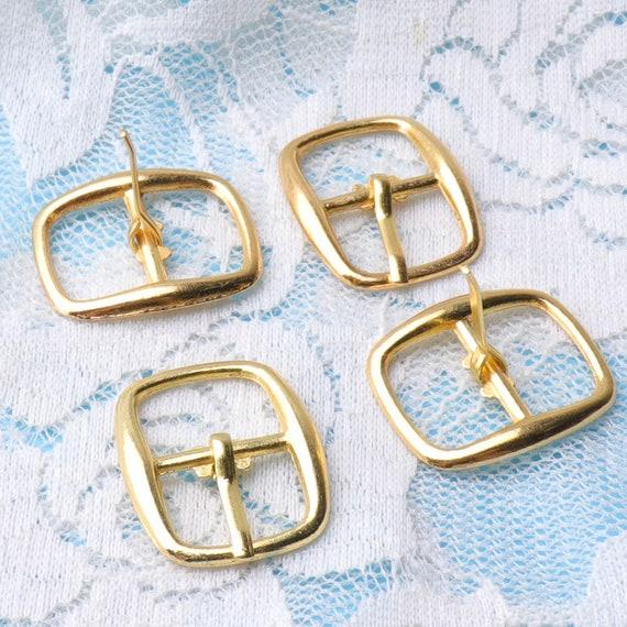 10pcs Metal rectangle handbag 1cm D ring webbing Belt ribbon buckle bag finding