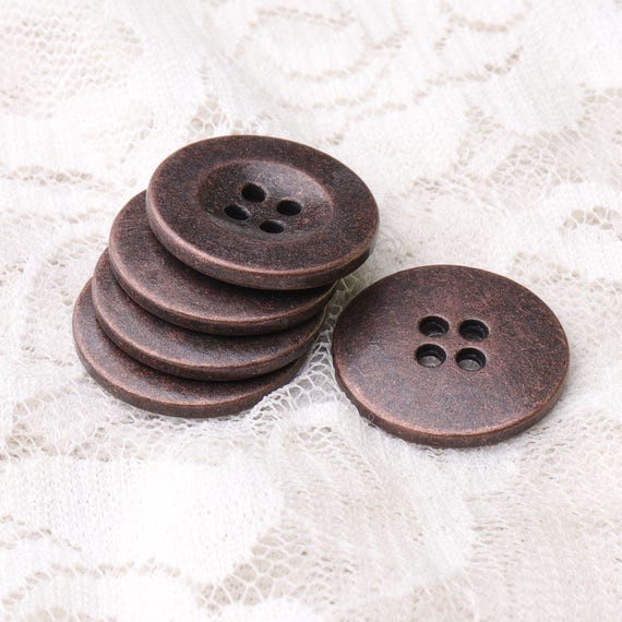 """3//4/"""" Winter Jacket Cardigan Sewing Buttons 10 Brown Buttons 20mm"""