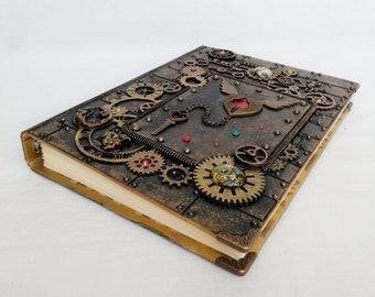 Steampunk journal A5 /steampunk notebook A5 / steampunk notepad / blank book A5
