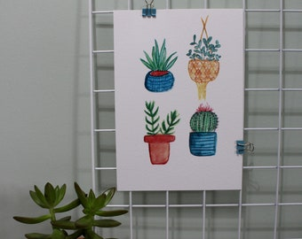 A5 Succulent and Cactus Print