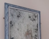 Antiqued silver leaf Verre eglomise mirror