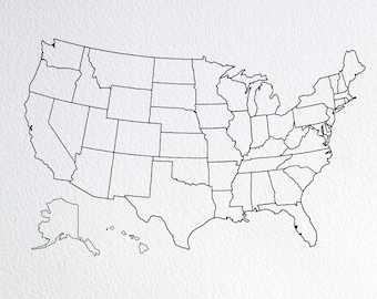 Usa outline | Etsy