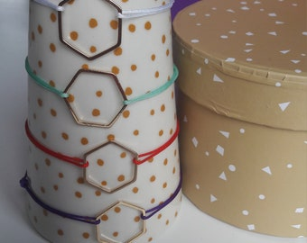 Hexagon charm bracelet