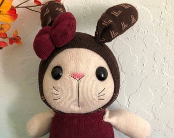 Long ear stuffed sock bunny