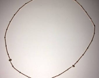 Zircon and Rose Gold Necklace