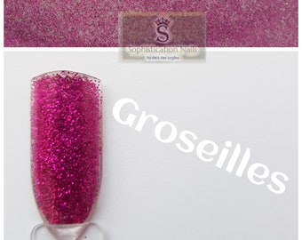 Resin acrylic nails 10gr currant