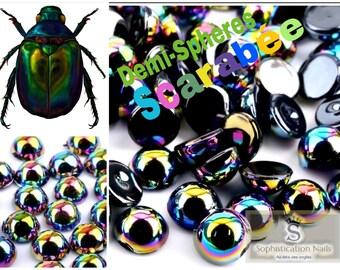 100 hemispheres beetle nail art decorations