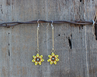 Sun Drop Beaded Earrings