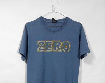 500dbb0f16d Vintage 90s Zero Skateboards T-shirt Skateboarding Tee Size M