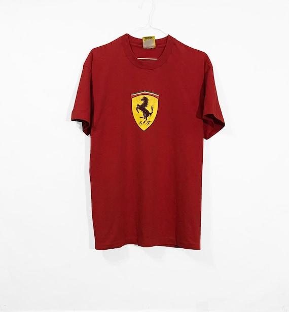 Vintage Ferrari T shirt red Italian Racing Formula 1 Motorsport f50 Exotic