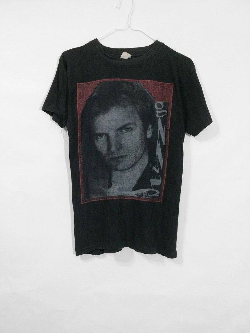 8fcdc2c9 Vintage 80's Sting T-shirt Rare Rock Retro Jazz Pop New   Etsy