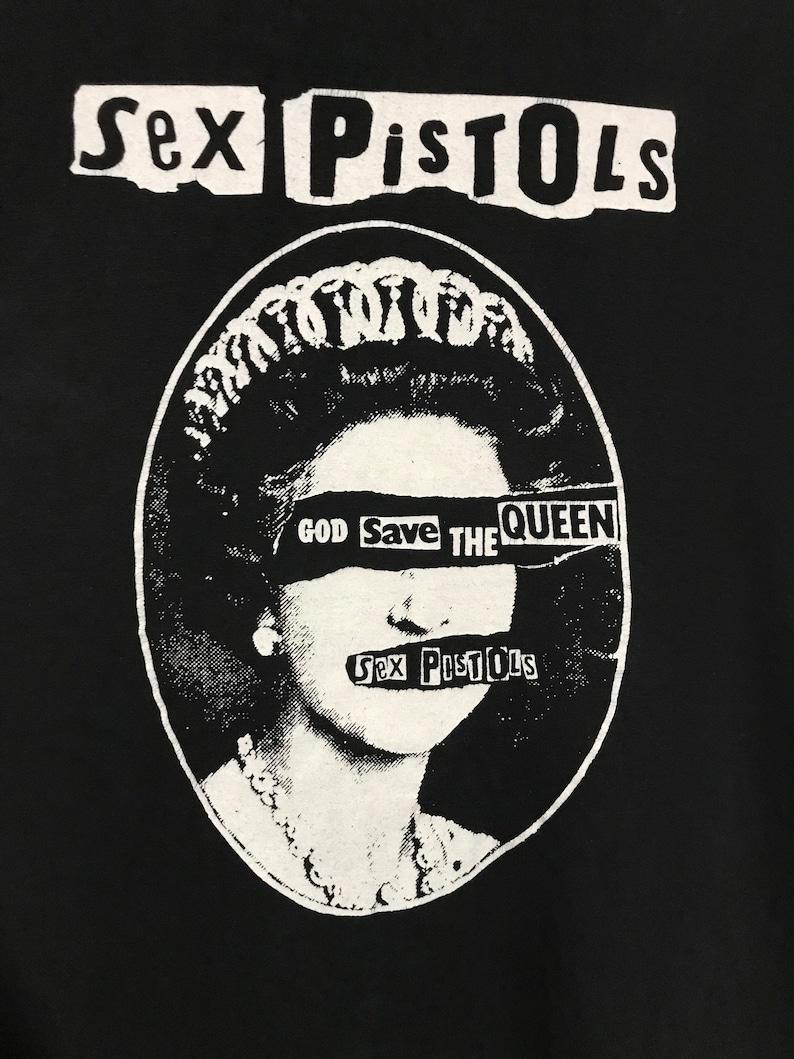 8f687b434d2 Vintage 90's Sex Pistols God Save The Queen T-shirt RARE | Etsy