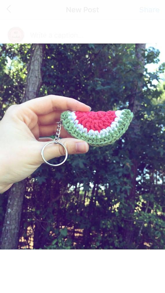 Watermelon Amigurumi Keychain Summer Stocking Stuffer | Ganchillo ... | 1014x570