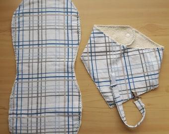 Bib, Burp Cloth and Pacifier Holder set