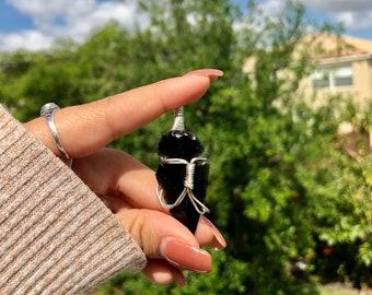 Black Obsidian Arrowhead