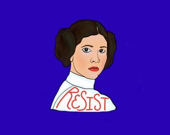 Princess Leia * Resist * Resistance Art * Star Wars Art * Leia * Princess Leia * Jedi * Princess Art  * Feminist Art Print