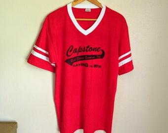 602250f8 90s Vintage V Neck Ringer Tee Size L | Vintage Baseball Ringer Tee | Vintage  Ringer T Shirt V Neck Baseball Tee | Ringer Tee Baseball Jersey