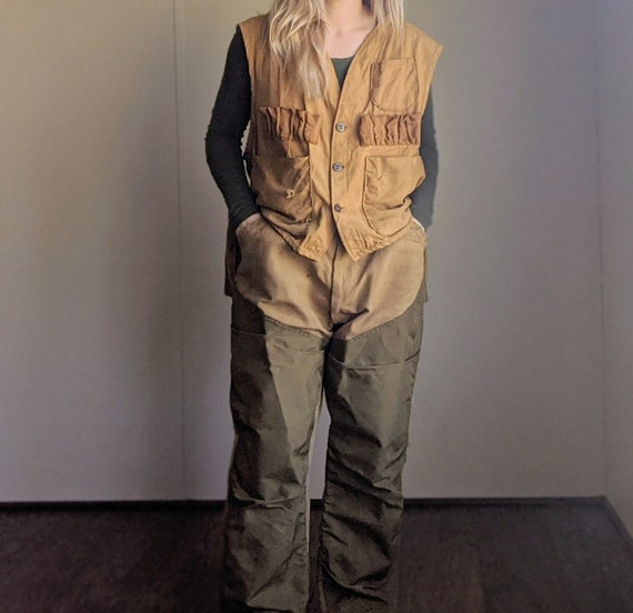 60s Upland Game Bird Hunting Vest & Pants Set Size
