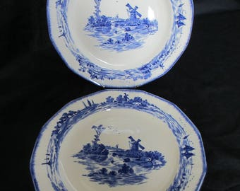 Two Vintage Royal Doulton,decorated in the Norfolk pattern,