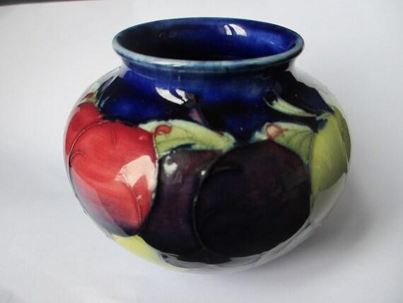 Antique William Moorcroft Vase C1930s Wisteria Pattern Etsy