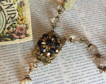 Assemblage Necklace, Repurposed Jewelry , Boho