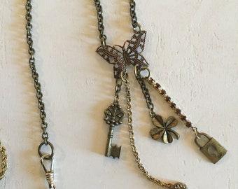 Assemblage Jewelry, Butterfly, Jewelry, Boho