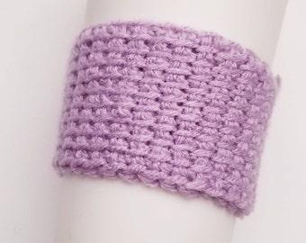 Tunisian Crochet Cozy in Light Purple