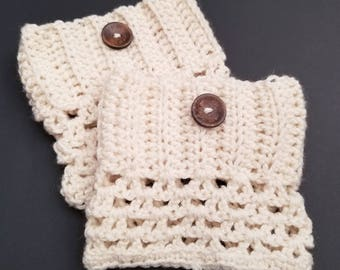 Boot Cuffs in Cream