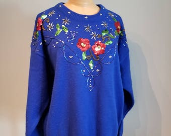 Floral Sequin sweater