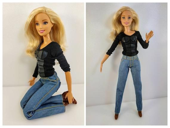 Barbie stretch denim leggings Barbie clothes Barbie pants Barbie outfit