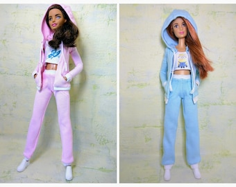Barbie clothes - Barbie hooded jacket/ Barbie top/ Barbie pants/ Barbie casual/ Barbie hoodie/ Barbie sportswear (M2M, Model, Fashionista)