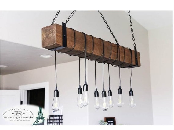 wood beam pendant light fixtures, retro kitchen island lamp, rustic style  large pendant light, barn lamp, rope light, farm house decor