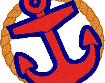 Anchor With Rope 4x4 APPLIQUE