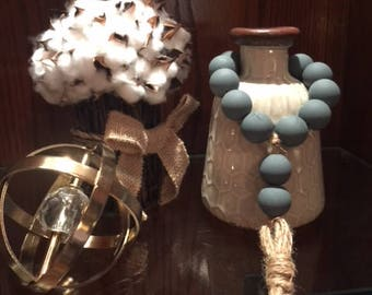 Turquoise Farmhouse Chippy Beads