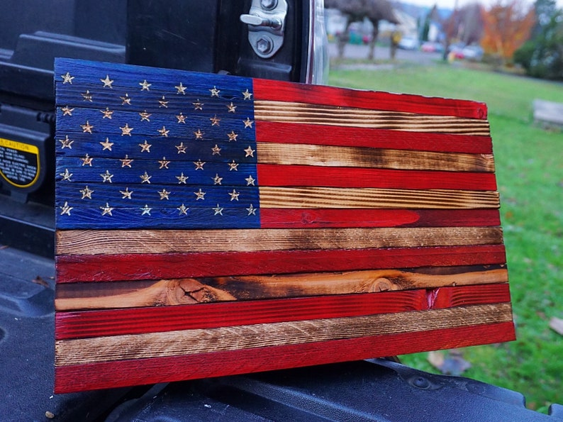 08ea09b9b13 Rustic American Wood Flag Patriot Edition Small 8 x