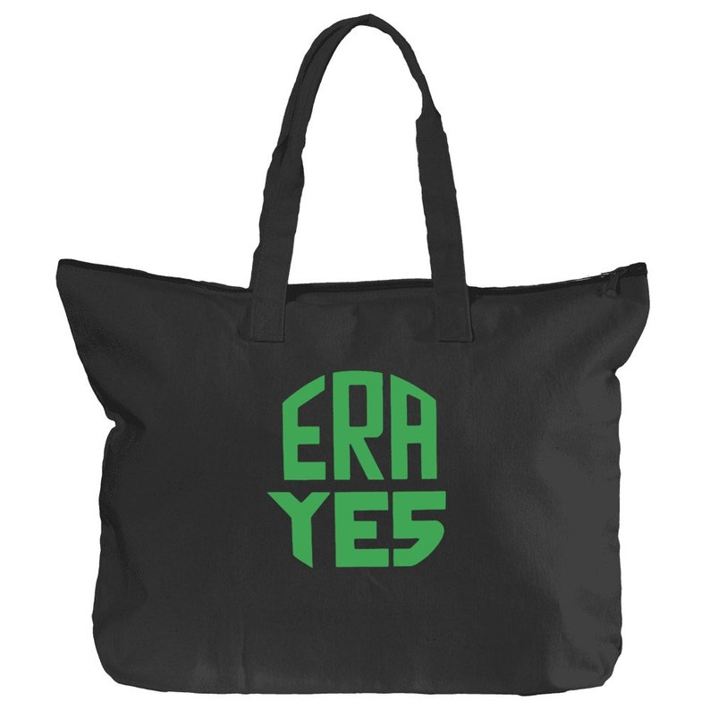 ERA YES Book Bag Library Tote Equal Rights Amendment Logo Feminist retro 1970s pin