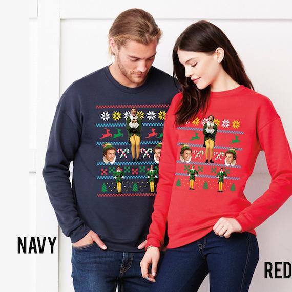 Buddy The Elf Movie Unisex Sweatshirt Ugly Christmas Sweater Etsy