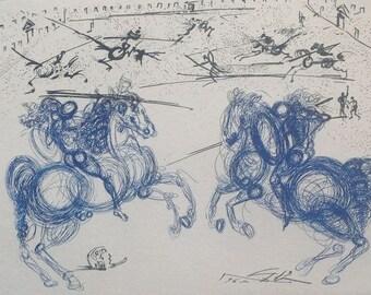 Salvador Dali - the battle of horses - 1967