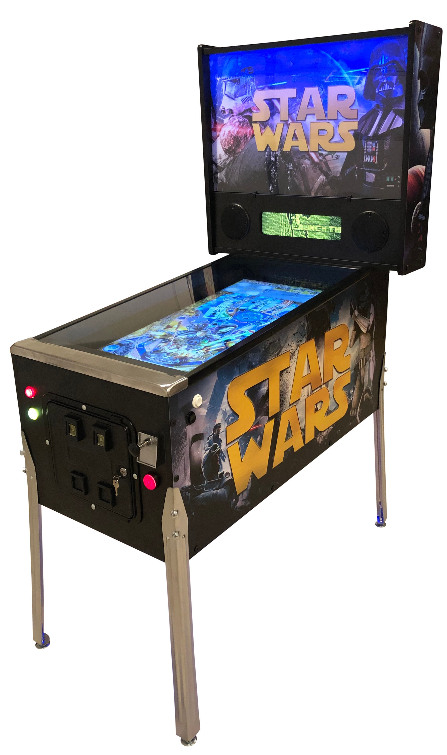 Star Wars Pinball Machine >> Star Wars Pro Mode Full Size Virtual Pinball Machine W Online Etsy