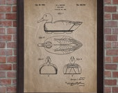 Duck Decoy Patent Print,1952,Duck Decoy Poster,Duck Hunting Print, Duck Hunter Gift,DIGITAL DOWNLOAD