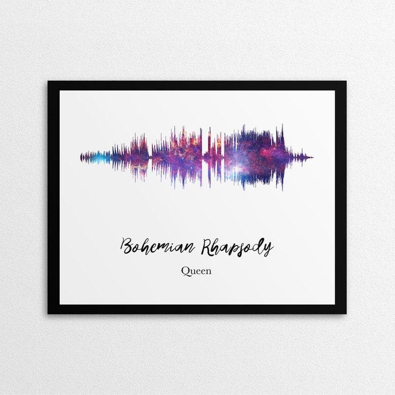 Custom Sound Wave,Space Background, Personalized Sound Wave Print, Custom  Waveform,Song Music,Song Lyrics Print,DIGITAL DOWNLOAD