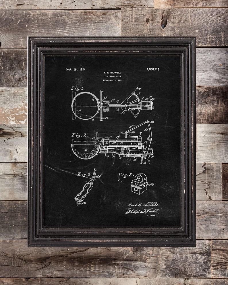 Ice Cream  Patent Print Set Of 3,Ice Cream prints Ice Cream Machine Wall Art,DIGITAL DOWNLOAD Ice Cream Poster
