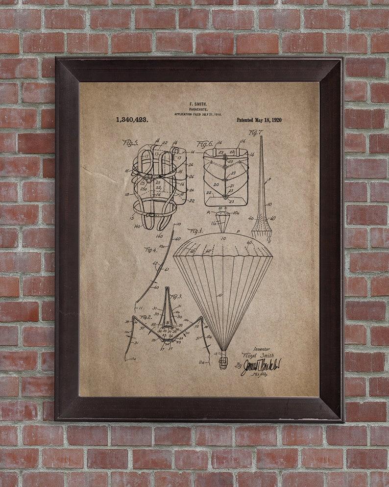Parachute Patent Print,1920,Parachute Patent Poster,Vintage Patent Prints,  Skydiving Patent Print, Skydiver poser,DIGITAL DOWNLOAD