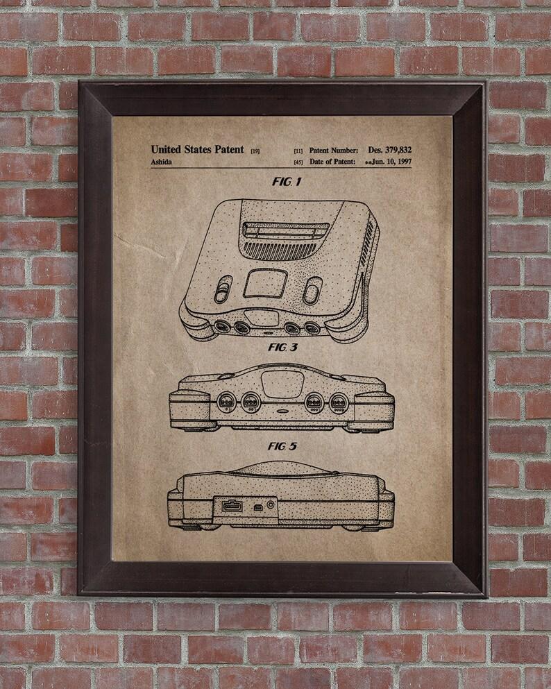 Nintendo 64 Game Patent Print, Nintendo Game Print, Nintendo Poster,Gming  Gifts, Nintendo Blueprint, DIGITAL DOWNLOAD