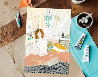 Me time Fine Art Giclée Print - A4