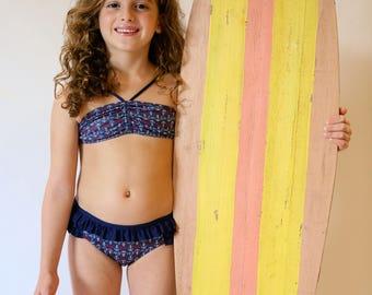 Navy Anchor Bikini - Toddler & Girls