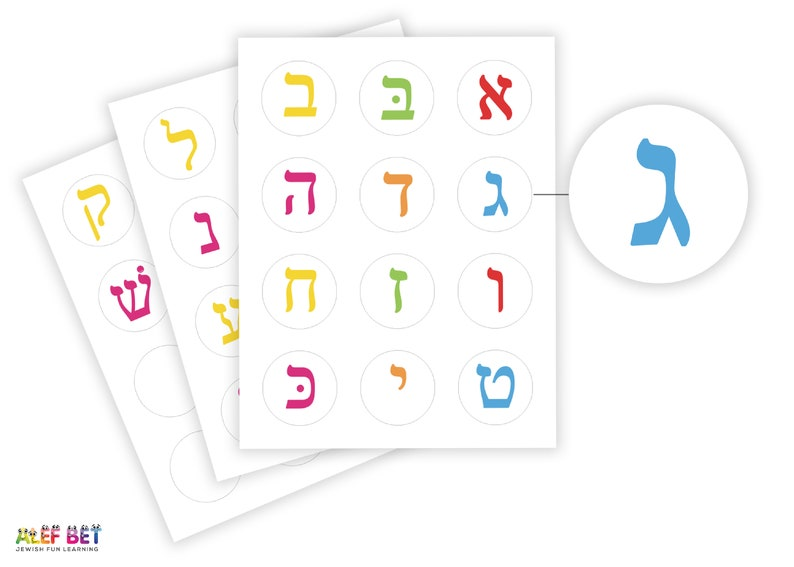 image regarding Hebrew Games Printable named Alef Wager Printable Stickers~Printable Alef Guess ~Hebrew Letters ~ Hebrew Game titles ~Find out Hebrew~Train Hebrew ~מדבקות ~עברית~אלף בית