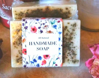 Homemade Goats Milk Base Soap with Green Tea, Olive oil, and coconut oil