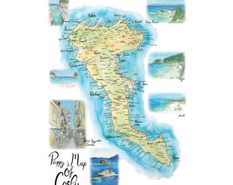 Poppy's Map of Corfu 2021 edition