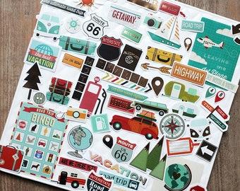 Erin Condren Life Planner Filofax 1142~~Road Trip Vacation Planner Stickers
